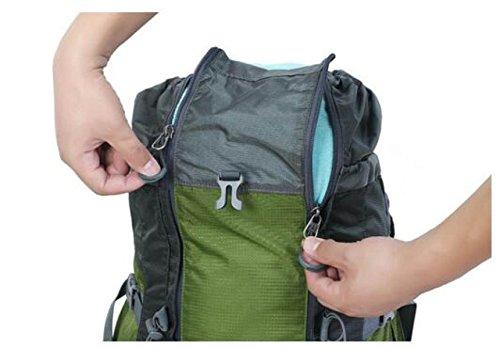 Bergsteigen Tasche Nylon Hoch Einstellung 75 + 10 L Schultern Schwerer Rucksack Green