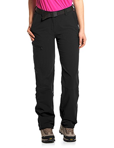 maier sports Damen Wanderhose Roll-up Lulaka, black, 50, 232001 (Damen-sommer-serie)
