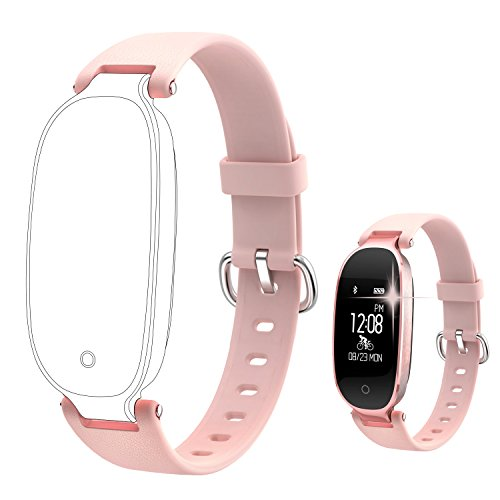 wowgo Fitness Tracker Straps Verstellbarer Ersatzgurt, rose gold