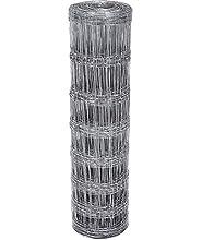 Amagabeli 50M Clôture à gibier à Toute épreuve 100/8/15 Clôture de Prairie galvanisé à Chaud Clôture forestière pour Plantes et Animaux Clôture de Fil Galvanisée Élevage Volaille Clôture à nœuds HC07