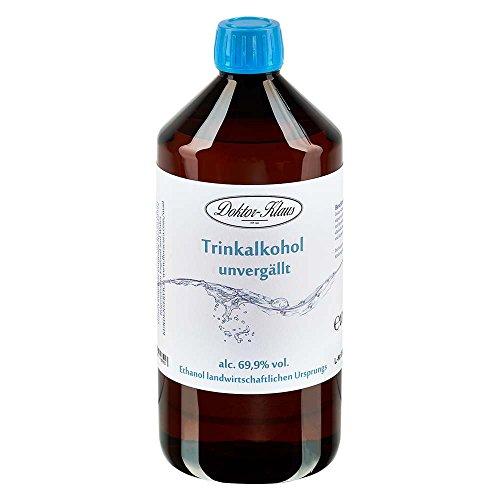 1000ml Primasprit Trinkalkohol 69,9% vol. Alc. in brauner PET Flasche mit OV von Doktor Klaus