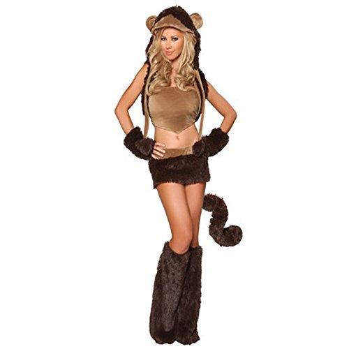 Gorgeous Schwarzen Bühne Kleidung Cosplay Kleid Teddybär -Halloween- Kleid mit Booties little devil