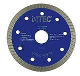 Diamanttrennscheibe Fliesentrennscheibe Turbo Fliese 115x22,23mm extradünn 1,2mm Keramik Naturstein Steinzeug Feinsteinzeug Klinker