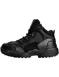 Deylaying Moda Botas Piel Ejército Combate Patrulla Táctica Calzado de Protección Policía Zapatos