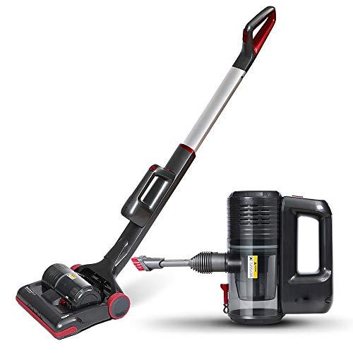CARWORD 2-In-1-Stick Und Handheld-Vakuum Für Teppich-PET-Haare Mit LED-Licht Akku-Aufstaub Sauger Leistungsstark (Für Handheld-vakuum Haar)