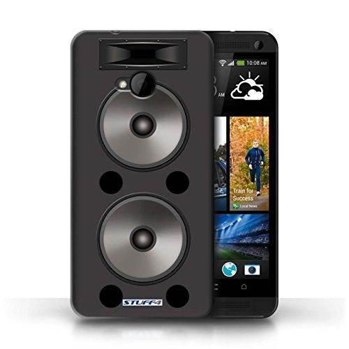 Coque de Stuff4 / Coque pour HTC One/1 M7 / Hifi Design / Haut-Parleur dessin Collection Double