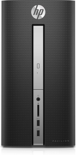 HP Pavilion 570-a057ng Desktop-PC (Intel Celeron J3355, 4GB RAM, 256GB SSD, Intel HD-Grafikkarte 500, DVD, FreeDOS 2.0) schwarz