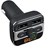 شاحن سيارة بلوتوث جهاز ارسال اف ام ومدخلين USB موديل BT20 - اسود