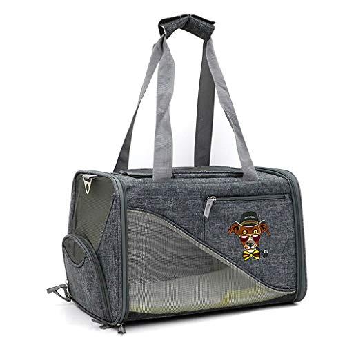 ZH1 Haustier Tasche Pet Luxury Soft-Sided Cat Carrier Fluggesellschaft TSA genehmigt - Pet Travel Portable Kennel für Katzen, kleine Hunde und Welpen (Color : A)