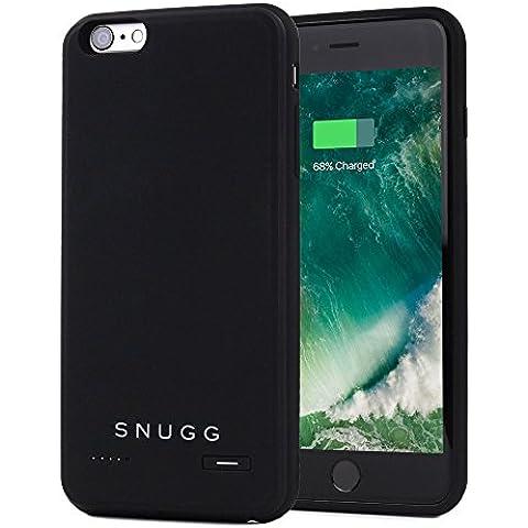 Funda Batería iPhone 6 Plus / 6s Plus, Snugg Funda Cargador Case Carcasa Para Apple iPhone 6 Plus / 6s Plus [Diseño Delgado] Protectora Batería Externa Capacidad de 3700mAh [Apple MFI Certificado] – Negro