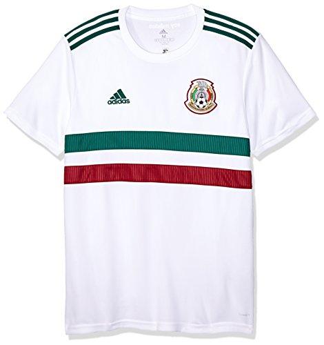 adidas Herren Mexiko Replica Auswärtstrikot, White/Cgreen/Cburgu, 3XL -