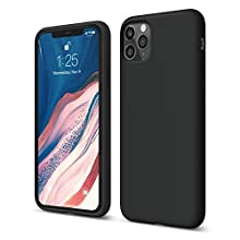 """elago Liquid Silicone Gel Rubber Shockproof Case Compatible with Apple iPhone 11 Pro Max (6.5"""") - Premium Silicone, Full Body Protection : 3 Layer Structure, Raised Lip for Screen & Camera (Black)"""