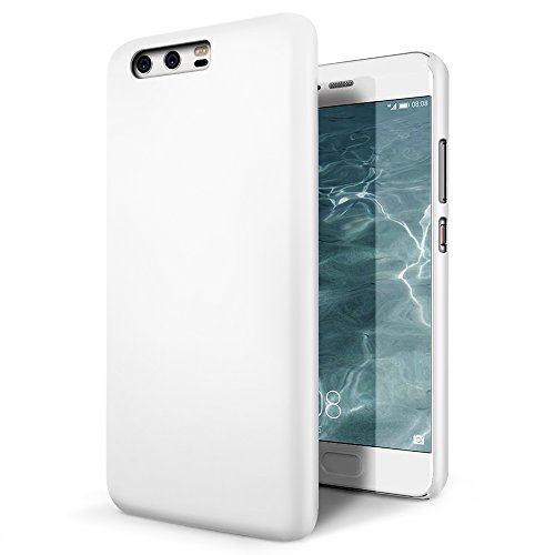 SLEO Custodia Huawei P10 Plus, Cover Huawei P10 Plus [Protezione 360°] Thin Fit, [Cover Sottile & Robusto] Rivestimento Soft-Feel, Ultra Leggero Protetto PC Duro Case per Huawei P10 Plus - Bianco