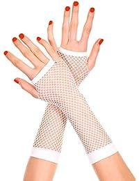 Gants Longs Résille Blanc (Long Fishnet Gloves White)