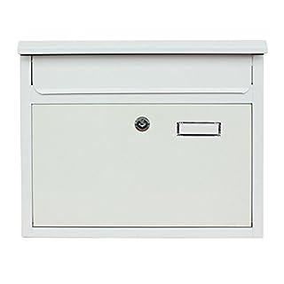 Briefkasten Wandbriefkasten Mailbox Briefkastenanlage Postkasten 30x36x10 DIN A4 Briefumschläge geeignet Montagematerial in Farbe Weiß