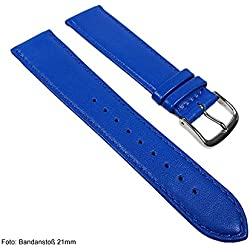 Miami Replacement Band Watch Band kalf nappa Strap blue / Enzian 22574S, width:11mm