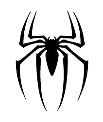 Marvel Comics Spiderman Symbol, gestanzte Vinyl-Aufkleber, für Fenster, Autos, LKW, Werkzeugkasten, Laptops, MacBook, praktisch Jede Harte Glatte Oberfläche schwarz schwarz 6 Inch
