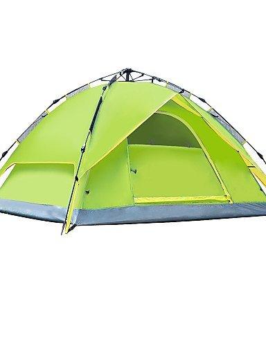 ZQ Militärische Zelt (blau/hellgrün/orange/grün, 3bis 4Personen)–-Feuchtraum/Wasserdicht/Regen/A-Test, Armeegrün