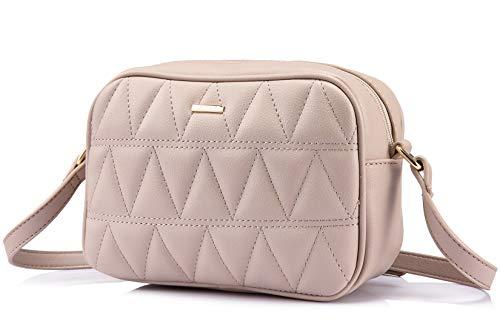 LOVEVOOK Schultertasche Damen, Klein Umhängetaschen Damen Leder Handtaschen für Damen- Beige (Frauen Kleine Handtaschen Für)