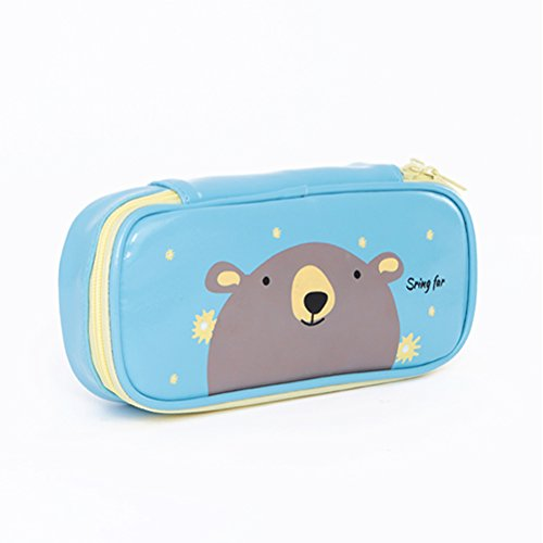 Zhhyltt pu astucci animal astuccio con cerniera borsa scuola ufficio giochi e giocattoli pencil case pouch purse make up bag pencil cases & sets canvas purse wallet
