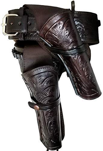 Modestone 22 Cal High Ride Right Cross Draw Double Pistolengürtel Leather 36 -