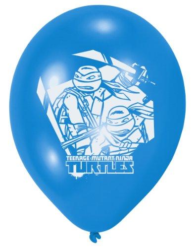 6 Luftballons * TEENAGE MUTANT NINJA TURTLES * für Party und Geburtstag // Geburtstag Party Ballon Ballons (Ninja Turtles Ballon)