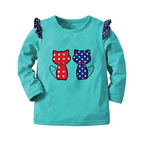cinnamou Kinder Jungen Sweatshirt Pullover, Junge Cartoon Cat Print Warm Tops Sweatshirt Pullover Winter Kleidung
