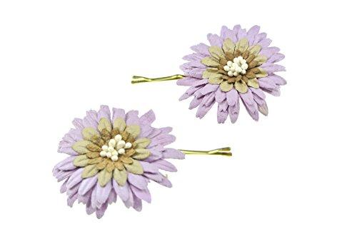 clarigo, Haarnadeln, Haarklammern, Haarklemmen, Blume, flieder, Hochzeit,Kommunion, Blumen, Blumenmädchen