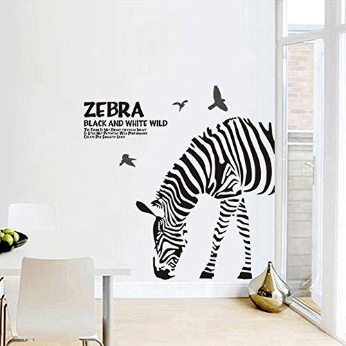 Fai-Da-Te Moda Astratta Personalità Bianco E Nero Schizzo Zebra Adesivi Soggiorno Camera Da Letto Wall Art Home Decor Wall Sticker