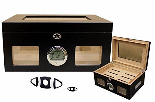 Marken - Humidor für 100 Zigarren - digitales Hygrometer