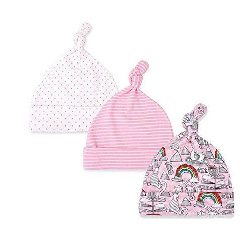 CuteOn 3 Paquete Bebé Beanie Nudo Sombrero Recién