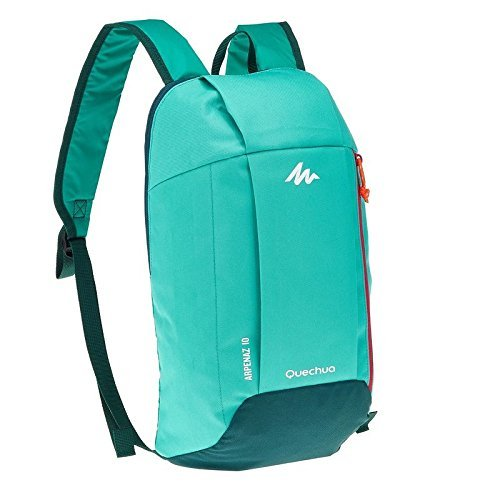 Quechua Premium Quality Ultra compact light weight Back Pack Mint Green Colour For Hiking and Picnic 10 Lts  available at amazon for Rs.389