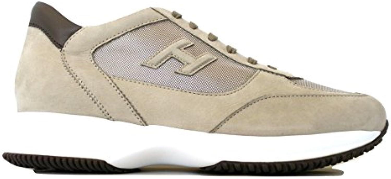 Hogan - Zapatillas de Cuero Nobuck para Hombre Beige Crudo