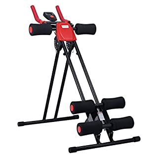 Finether Core Equipment: Foldable Abdominal Trainer AB Cruncher Core Exercise Machine Glider Machine 5 Minute Shaper with 6 Levels of intensity