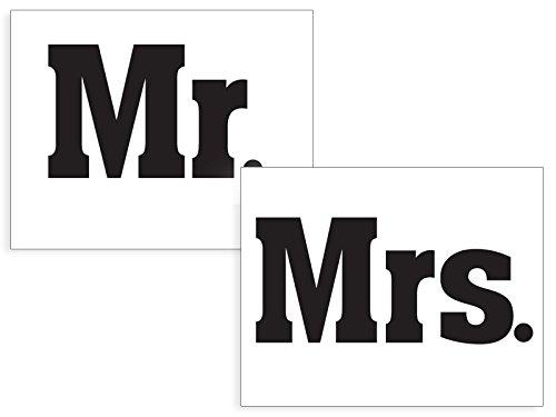 SiDeSo® Schuhaufkleber Sticker Brautpaar Hochzeit (Mr. / Mrs.)