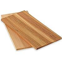 Räucherbretter aus Zedernholz 4 Stück (2x 2er Set) , ca 28 x 14 cm Grillbretter , iapyx®