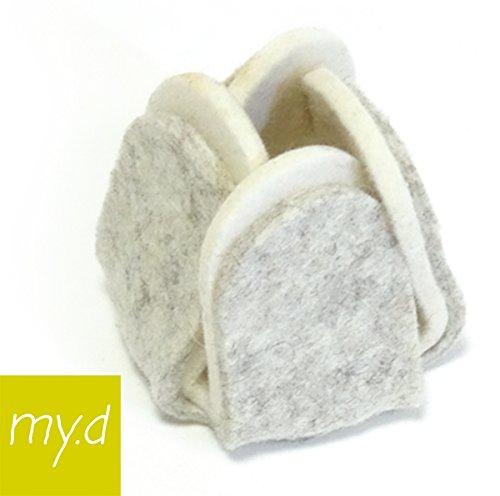 my.d – DerMöbelschuhfürFlüstermöbel – Filzgleiter Möbelgleiter Businessline 4 Stück (graumeliert/wollweiß)