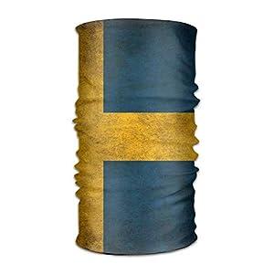 RGFJJE Sturmhauben Headband Face Sun Wind Mask – Vintage Norway Norge Flag Magic Scarf Bandana Balaclava Headwear for Outdoors