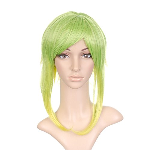 Lime Green Anime Cosplay Costume Wig with Long -
