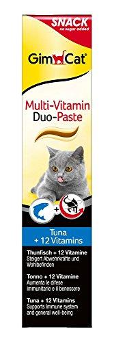 GimCat Multi-Vitamin Duo-Paste Thunfisch + 12 Vitamine, 1er Pack (1 x 200 g)