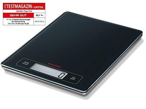 Soehnle Page Profi Bilancia Pesa Alimenti Digitale, Bilancia da Cucina max 15 kg con Ampio Spazio Pesatura, Bilancia Cucina Digitale con Funzione Hold