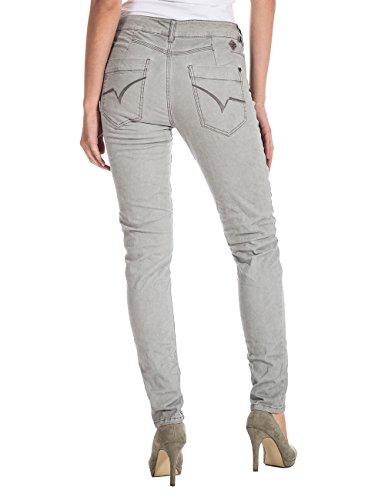 Timezone Damen Slim Hose NeelaTZ fashion pants Grau (chateau grey 9099)