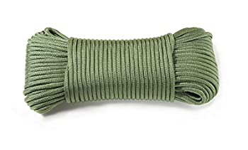 Dyd Strong Rope Parachute Rope (30 M, 375 Kg Heavy Duty) Us Military Standard 5040h Type Iv 750 Paracord Parachute Cord Mil C), Green 0