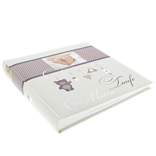 Goldbuch Taufalbum, Little Mobile, 25 x 25 cm, 60 weiße Blankoseiten mit Pergamin-Trennblättern, Kunstdruck mit UV-Lack, Beige, 24337