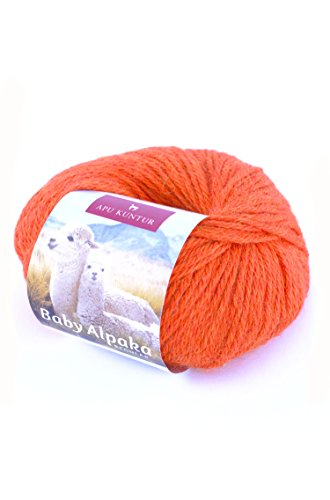 Alpaka-Wolle 5er-Pack AKTIONSPREIS Baby-Alpaka Wolle REGULAR 5x50g orange