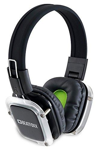 Beatfoxx SDH-300/16 Neonbright Silent Disco Set (16 Stereo Funk-Kopfhörer + 1 Ladegerät, Erweiterung von Silent Disco Sets, Kanal LED-Beleuchtung, Tragekomfort, über 10 Stunden Akkulaufzeit)