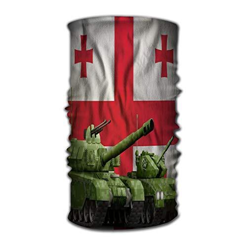 Xunulyn Stirnband Comfy Face Bandana Mask Breathable Headwrap Tanks Green Pixel Camouflage Georgia Flag Georgia tan Headwrap Tank