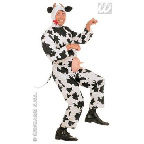 Widmann 35211 - Erwachsenenkostüm Gaia die Kuh, Kostüm mit Eutern, Kopfbedeckung mit Hörnern, Größe S
