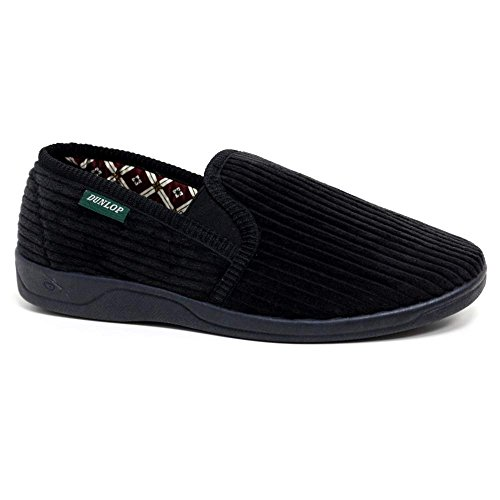 Dunlop, Pantofole Da Uomo Nere