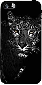 Snoogg Black And White Leopard Designer Protective Back Case Cover Forapple I...